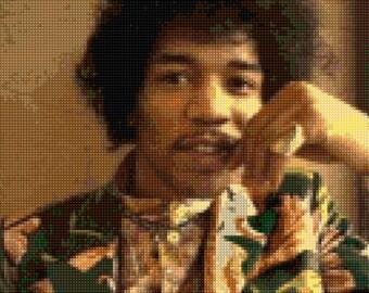 Jimi Hendrix portrait Cross stitch pattern PDF - Instant Download!