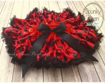 Ladybug Baby Girl Tutu, DELUXE Tutu Petticoat, ruffle baby skirt, baby girl tutu, fancy posh toddler pettiskirt, Halloween Costume Girl Tutu