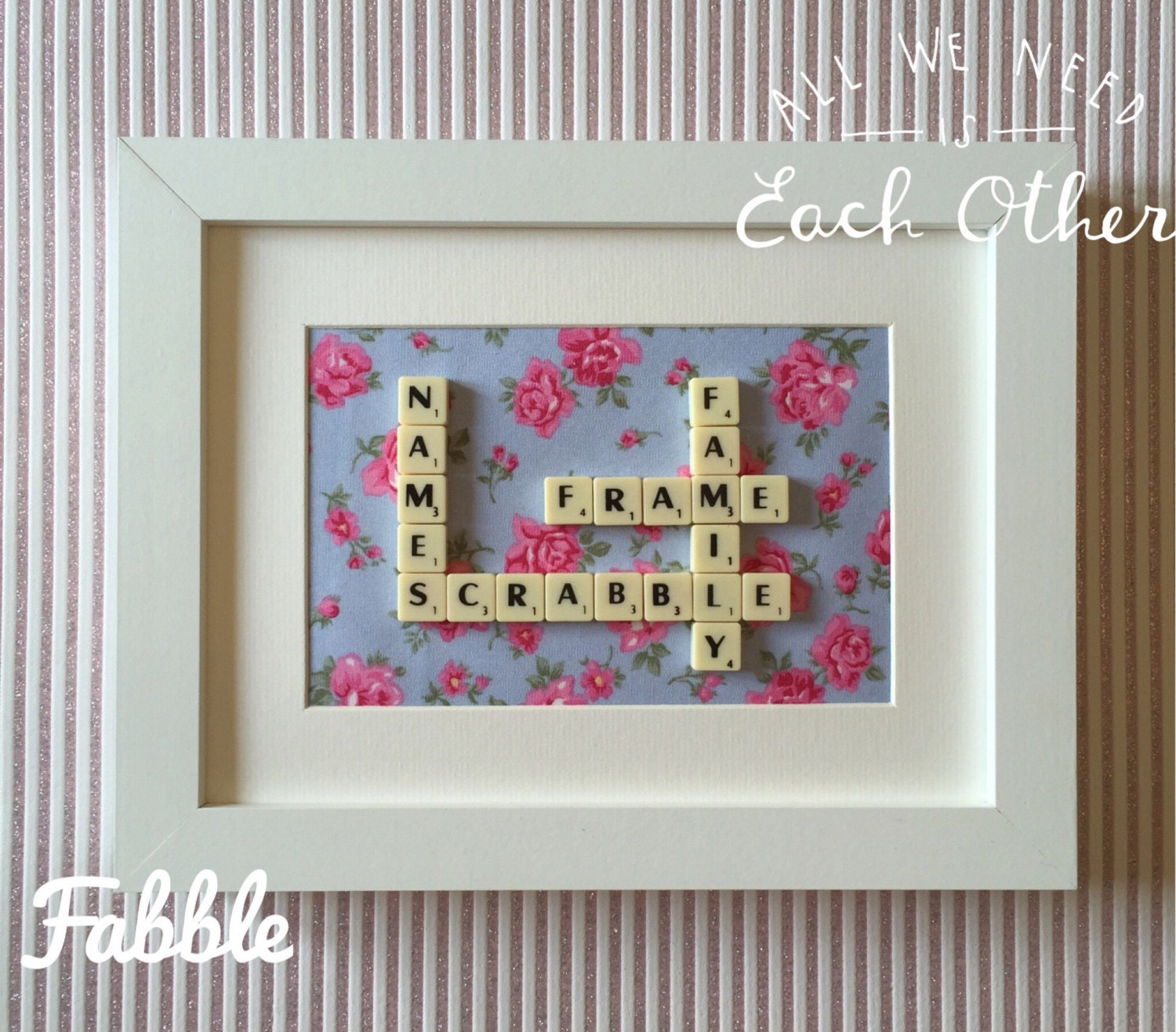 Scrabble Pieces Wall Decor : Scrabble tile wall art personalised
