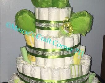 Bling diaper cake