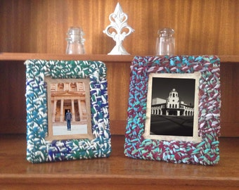 Fabric Scrap Picture Frames