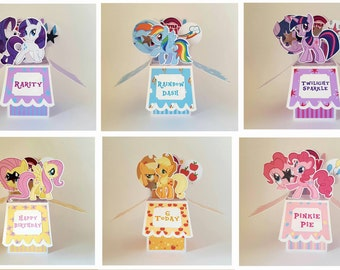 My Little Pony Greeting Card Handcrafted Personalised Happy Birthday