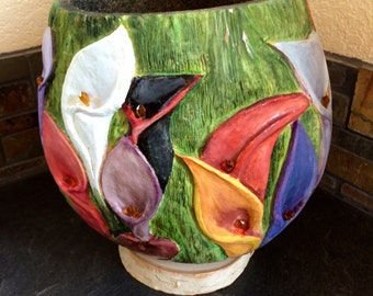Calla Lily Gourd Bowl