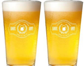 20 Wreath Engraved  Pint Glass (MIC12)