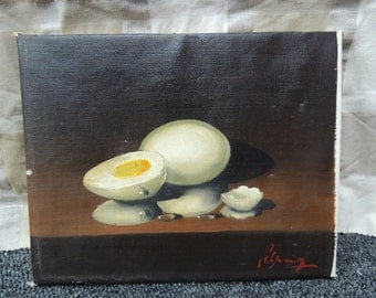 Original Cooked Eggs Painting
