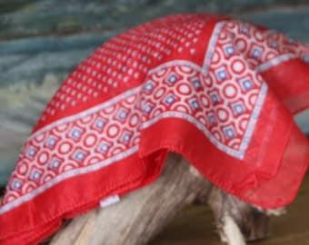1990s vintage red bandana