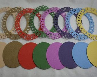Die Cuts - Frames & Ovals - Set of 16