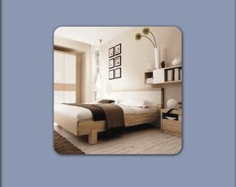 Square Wall Mirror With Rounded Corners Cube Shaped Plain
