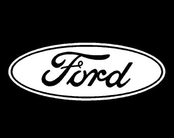 Ford Logo Vinyl Decal Car Truck Window Sticker Laptop Graphic Different Sizes and Colors