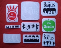 The Beatles stickers without background set 8 vinyl cars,guitar,laptop set 9