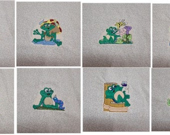 Happy Frog Quilt Squares