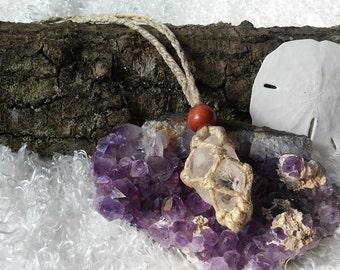 Macrame Interchangable Hemp Stone Necklace