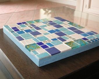 Underside of flat mosaic 20 x 20