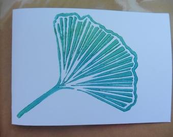 Large Gingko Leaf - Turquoise (Gift Card)