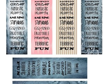 Books Are Awesome - 6  laminated bookmarks