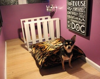 Soft faux fur pet bed Tiger print