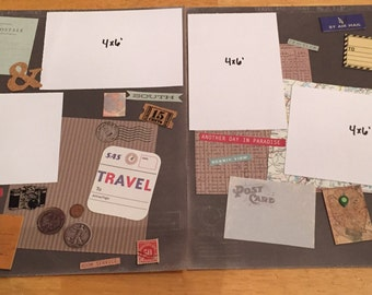 Vacation 2 page scrapbook layout