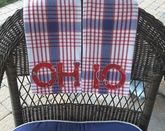 Ohio Applique Towels