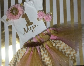 Onesie and Tutu set with matching bow and barefoot sandals