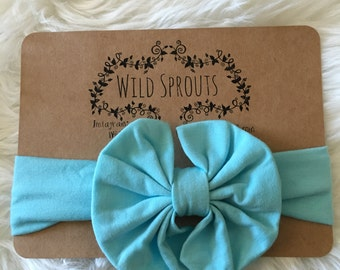 Baby blue head wrap