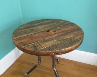 Spool Top Table w/ Pipe Legs