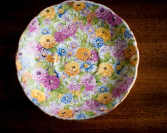 Replacement Saucer | Collingwoods Fine Bone China | Chintz | Made in England