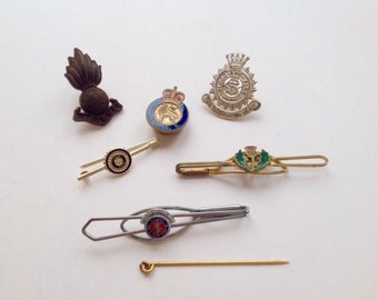 Collection of pins and tie pins