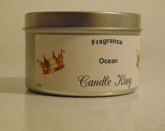 Candle King 4 OZ Ocean With 2 Shells Hidden Within