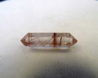 1 (one) Double Terminated Red Rutile Quartz from Brazil - 30 mm