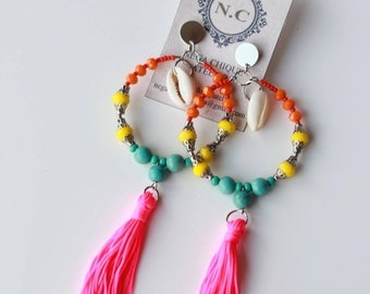 Tassel and Beads Earrings