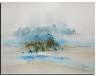 """Abstract Watercolor painting Abstract Painting Landscape painting Watercolor art, Art Painting Watercolor Modern Art 10""""X8"""" by Tatjana Ruzin"""