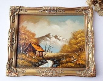 Vintage Landscape Oil Painting / Serene Oil Painting / Vintage Landscape Painting / Vintage Oil Painting / Vintage Art / Vintage Painting
