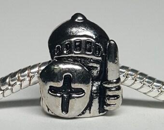 Silver Knight Charm for European Bracelets (item 148)