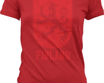 Finland, Coat of Arms, Crowned Lion, Grand Duke of Finland Juniors T-shirt, NOFO_00230