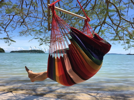 like this item  large brazilian hammock chair quality cotton weave for  rh   etsy