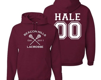 Hale 00 Teen Wolf Hoodie Beacon Hills Inspired Lacrosse Adult Fashion Hoodie