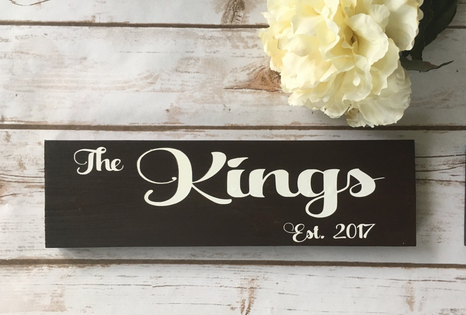 Last name sign Rustic home decor Wedding Bridal shower