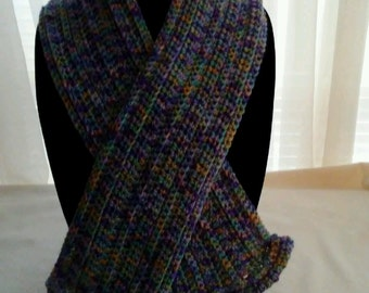 Scarf - Blue/Teal/Purple/Green - Warm