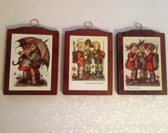 Vintage M.I. Hummel Set of 3 with German Captions