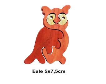 Mini Puzzle Owl / Handmade / Animals / Wooden toys / Forest / Waldorf / Montessori