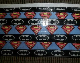 Batman Vs Superman Duct Tape Wallet -DOLLAR shipping!