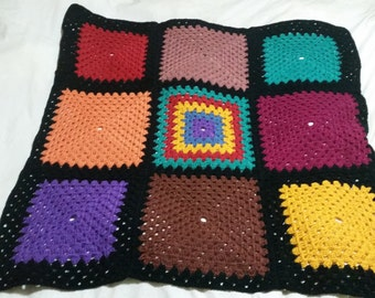 Crochet Multi Color Blanket