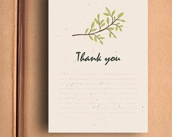 Printable Thank You Card - Instant download
