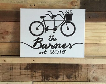 Tandem Bicycle Canvas