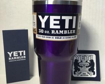 Custom Powder Coated Authentic Yeti Rambler 30oz or 20oz - Chic Purple