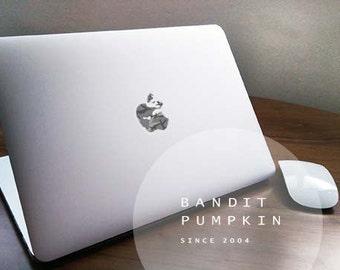 Matt/Gloss CamoGreyApple Macbook Translucent Decal