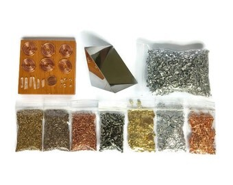 Orgonite Orgone Supplies Kit 2 with Pyramid Mold Metals Coils Crystals