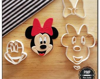 Cookie Cutter Head Minnie Mouse / Set fondant