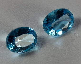 Natural Light Sky Blue Topaz, Matching Pair Oval Mixed Cut, 3.04ct total weight