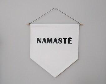 Namaste Handmade Wall Banner 14''x15.5''